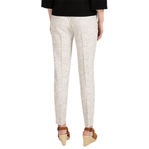 Buy Phase Eight Erica Jacquard Trousers, Ivory/Camel Online at johnlewis.com