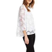 Buy Phase Eight Barney Burnout Top, White Online at johnlewis.com