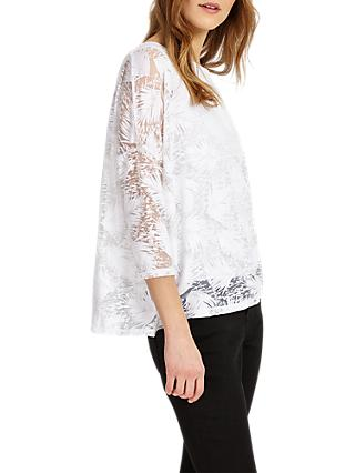 Phase Eight Barney Burnout Top, White