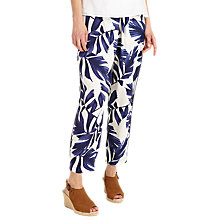 Buy Phase Eight Pia Print Trousers, White/Blue Online at johnlewis.com