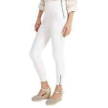 Buy Phase Eight Amina Zip 7/8th Jeggings, White Online at johnlewis.com