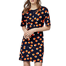 Buy Warehouse Toffee Penny Ponte Dress, Multi Online at johnlewis.com