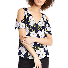 Buy Oasis Small Wild At Heart Top, Blue/Multi Online at johnlewis.com