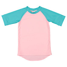 Buy Polarn O. Pyret Children's Short Sleeve UV Swim Top, Pink Online at johnlewis.com