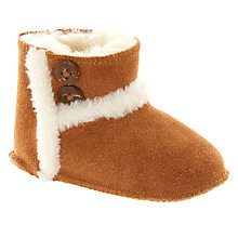 Buy John Lewis Baby Suede Booties, Chestnut Online at johnlewis.com
