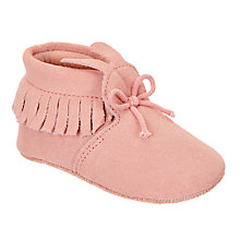 Buy John Lewis Baby Bunny Suede Booties, Pink Online at johnlewis.com