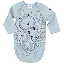 Buy Polarn O. Pyret Baby Lion Bodysuit, Blue Online at johnlewis.com
