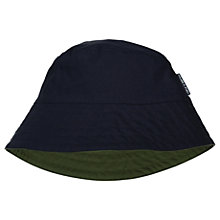 Buy Polarn O. Pyret Children's Reversible Hat, Navy/Green Online at johnlewis.com