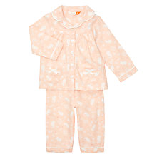 Buy John Lewis Baby Mouse Print Woven Pyjamas, Pink/Cream Online at johnlewis.com