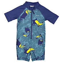 Buy Polarn O. Pyret Children's Toucan UV Swimsuit, Blue Online at johnlewis.com