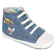 Buy John Lewis Baby Chambray Trainers, Blue Online at johnlewis.com