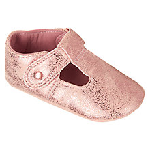 Buy John Lewis Baby T-Bar Shoes, Rose Gold Online at johnlewis.com