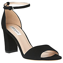 Buy L.K. Bennett Helena Block Heeled Sandals, Black Suede Online at johnlewis.com