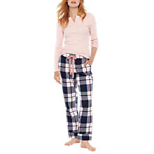 Buy Joules Snooze Check Pyjama Bottoms, Blue Online at johnlewis.com