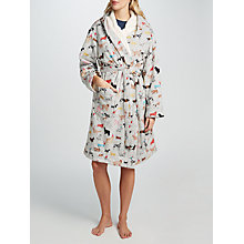 Buy Joules Idlewhile Party Dog Fleece Lined Dressing Gown, Grey/Multi Online at johnlewis.com