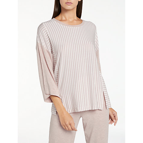 buy dkny city stripes 34 sleeve pyjama top shell online at johnlewis