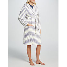 Buy Joules Rita Stripe Fleece Dressing Gown Online at johnlewis.com