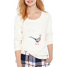 Buy Joules Aubree Game Bird Pyjama Top, Ivory Online at johnlewis.com