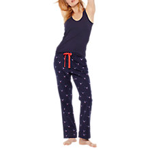 Buy Joules Snooze Pyjama Bottoms, Navy Online at johnlewis.com