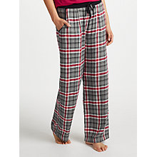 Buy DKNY Checked In Pyjama Bottoms, Cerise/Grey Online at johnlewis.com