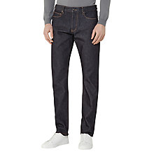 Buy Reiss Veda Raw Denim Slim Fit Jeans, Indigo Online at johnlewis.com