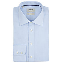 Buy Chester by Chester Barrie Fine Stripe Tailored Fit Shirt, Blue/White Online at johnlewis.com
