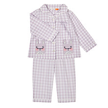 Buy John Lewis Baby Woven Check Bunny Pocket Pyjamas, Lilac Online at johnlewis.com