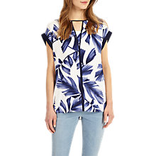 Buy Phase Eight Pia Print Blouse, White/Blue Online at johnlewis.com