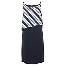 Buy Mint Velvet Stripe Cape Dress, Multi Online at johnlewis.com