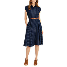 Buy Phase Eight Sophie Stripe Dress, Indigo/White Online at johnlewis.com