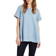 Buy Phase Eight Alissia Chambray Blouse, Blue Online at johnlewis.com