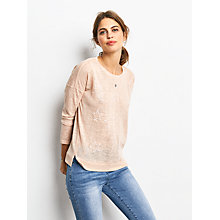 Buy hush Long Sleeve Star T-Shirt, Latte Online at johnlewis.com