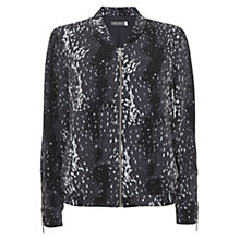 Buy Mint Velvet Scarlet Print Bomber Jacket, Multi Online at johnlewis.com