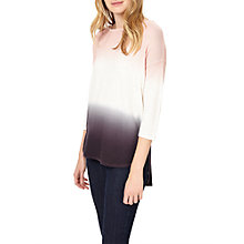 Buy Phase Eight Lynda Dip Dye Jumper, Soft Pink Online at johnlewis.com