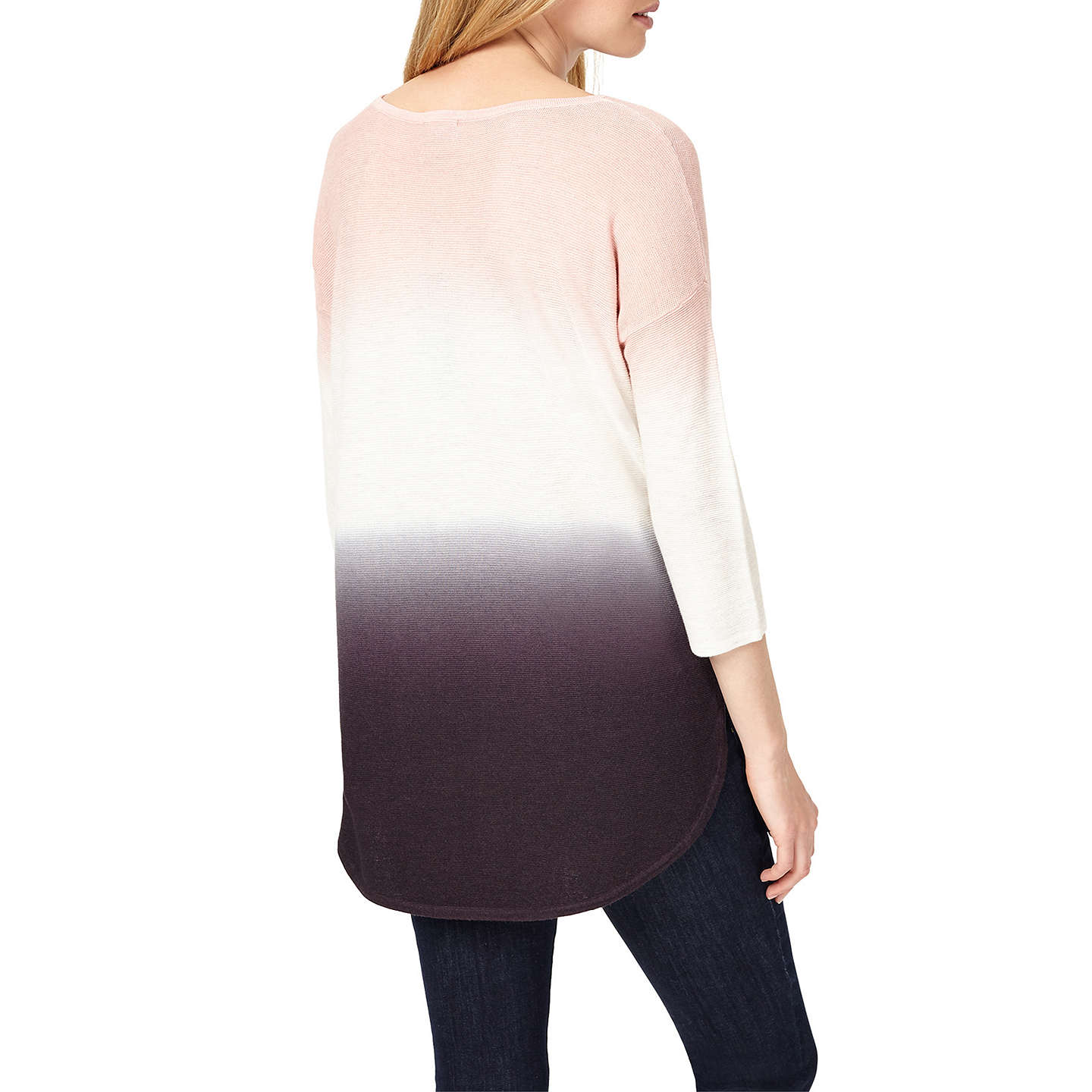 BuyPhase Eight Lynda Dip Dye Jumper, Soft Pink, XS Online at johnlewis.com