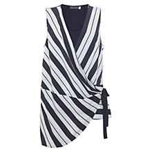 Buy Mint Velvet Stripe Wrap Jersey Tunic Top, Stripe/Multi Online at johnlewis.com