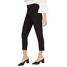 Buy Miss Selfridge Petite D Ring Trousers, Black Online at johnlewis.com