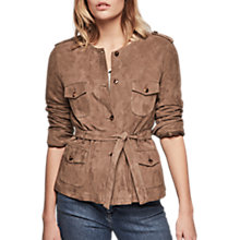 Buy Gerard Darel Via Leather Jacket, Green Online at johnlewis.com
