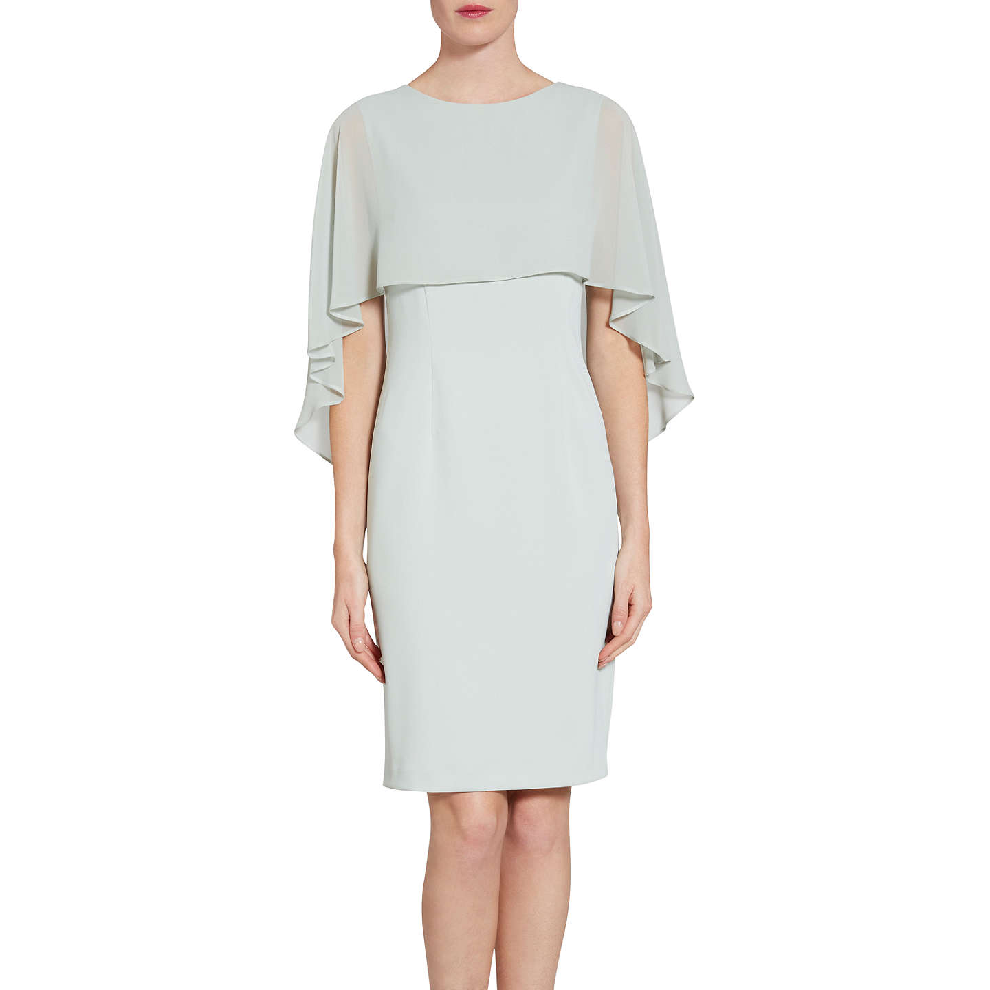 Gina Bacconi Crepe Dress And Chiffon Cape At John Lewis