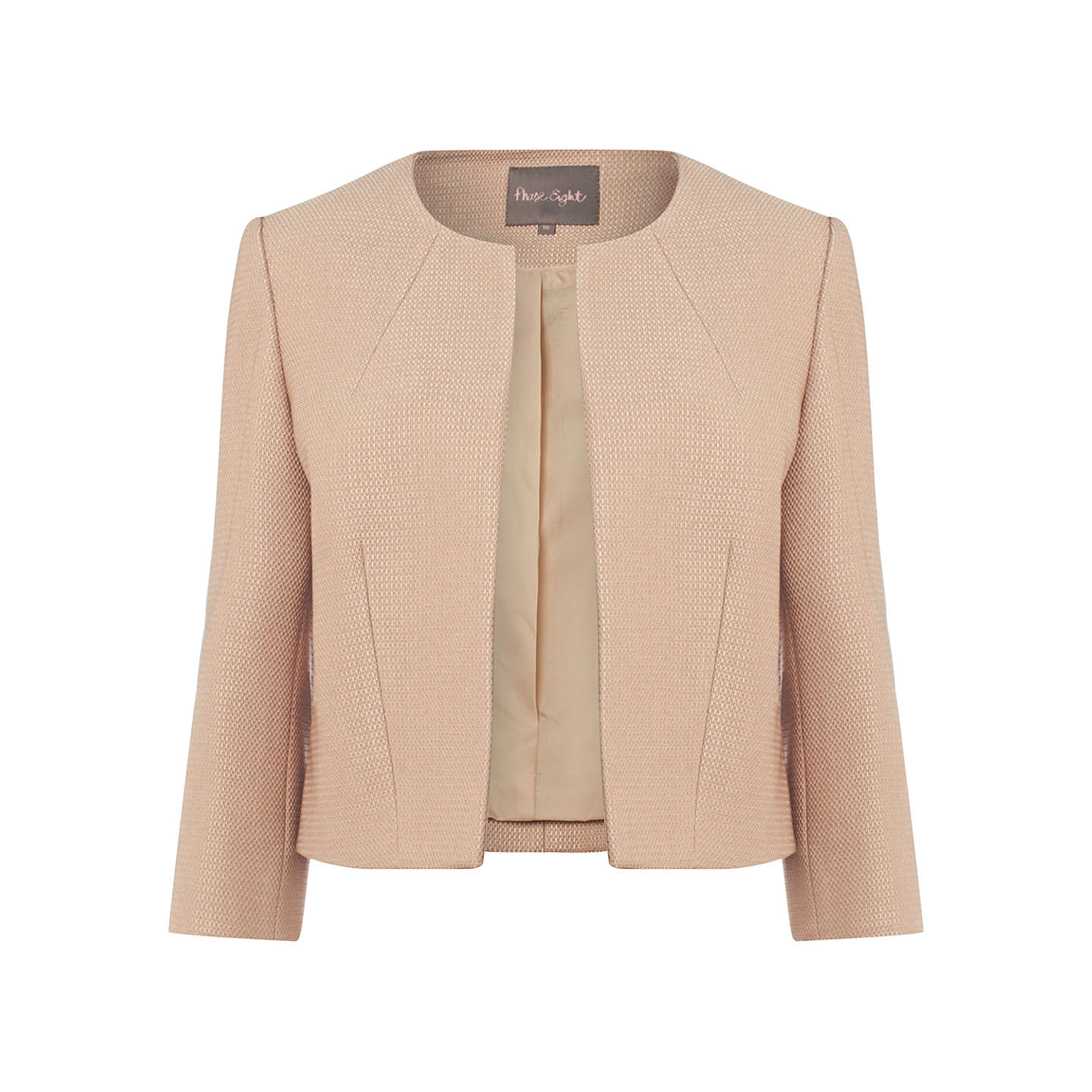 BuyPhase Eight Livvy Textured Jacket, Latte, 6 Online at johnlewis.com