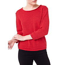 Buy Precis Petite Donna Tape Yarn Jumper, Bright Red Online at johnlewis.com