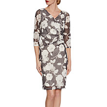 Buy Gina Bacconi 3D Floral Printed Lace Dress, Slate Online at johnlewis.com