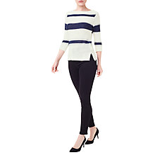 Buy Precis Petite Stripe Tape Yarn Jumper, Cream/Multi Online at johnlewis.com