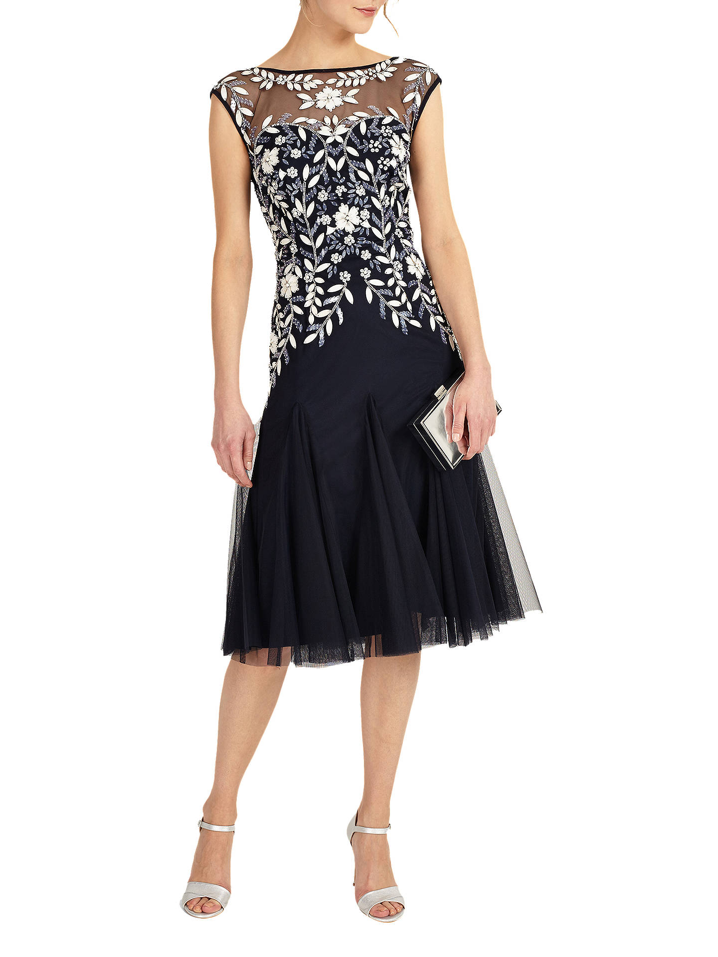 BuyPhase Eight Ursula Tulle Dress, Navy, 12 Online at johnlewis.com