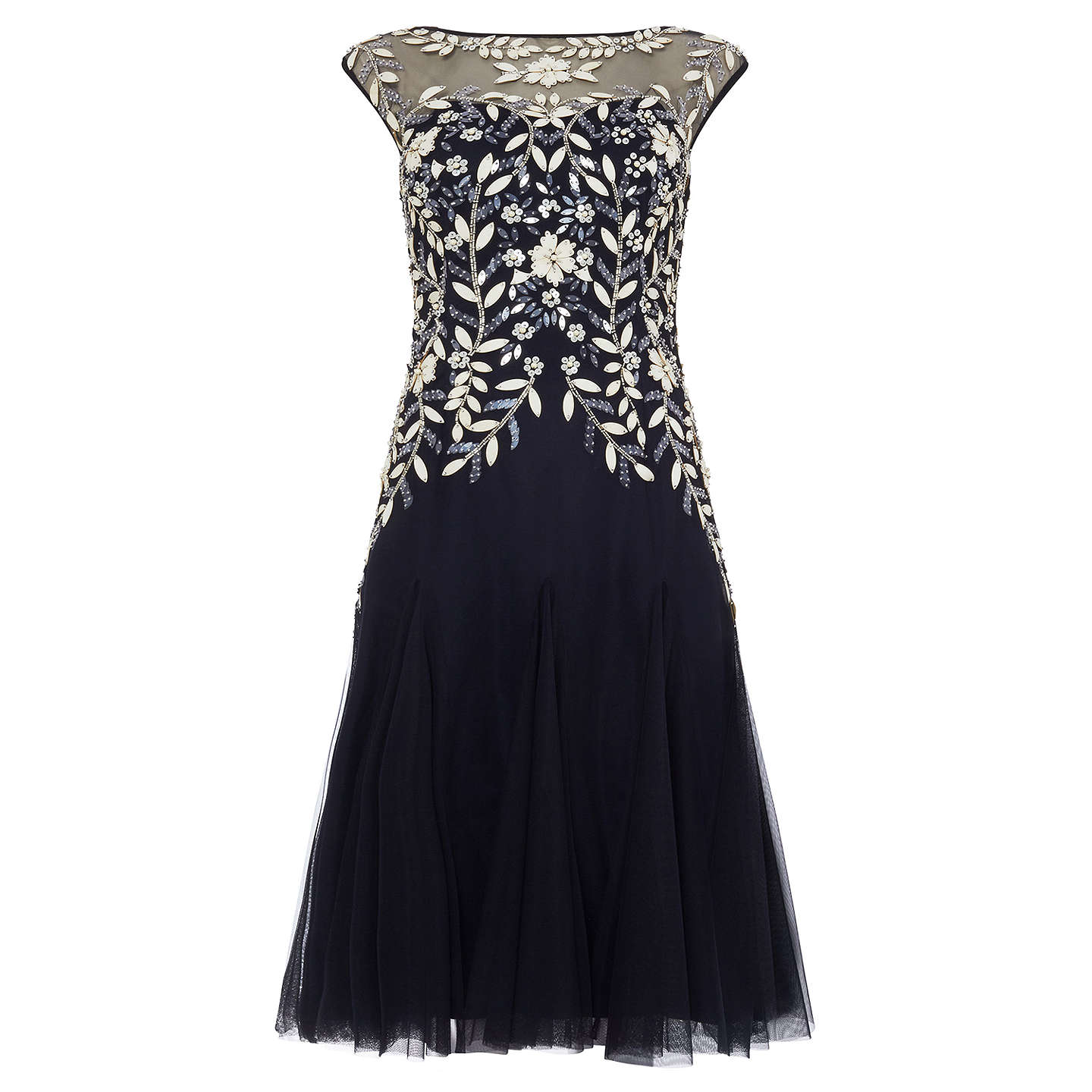 BuyPhase Eight Ursula Tulle Dress, Navy, 10 Online at johnlewis.com