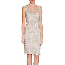 Buy Gina Bacconi Beaded Lace Dress, Nude Online at johnlewis.com