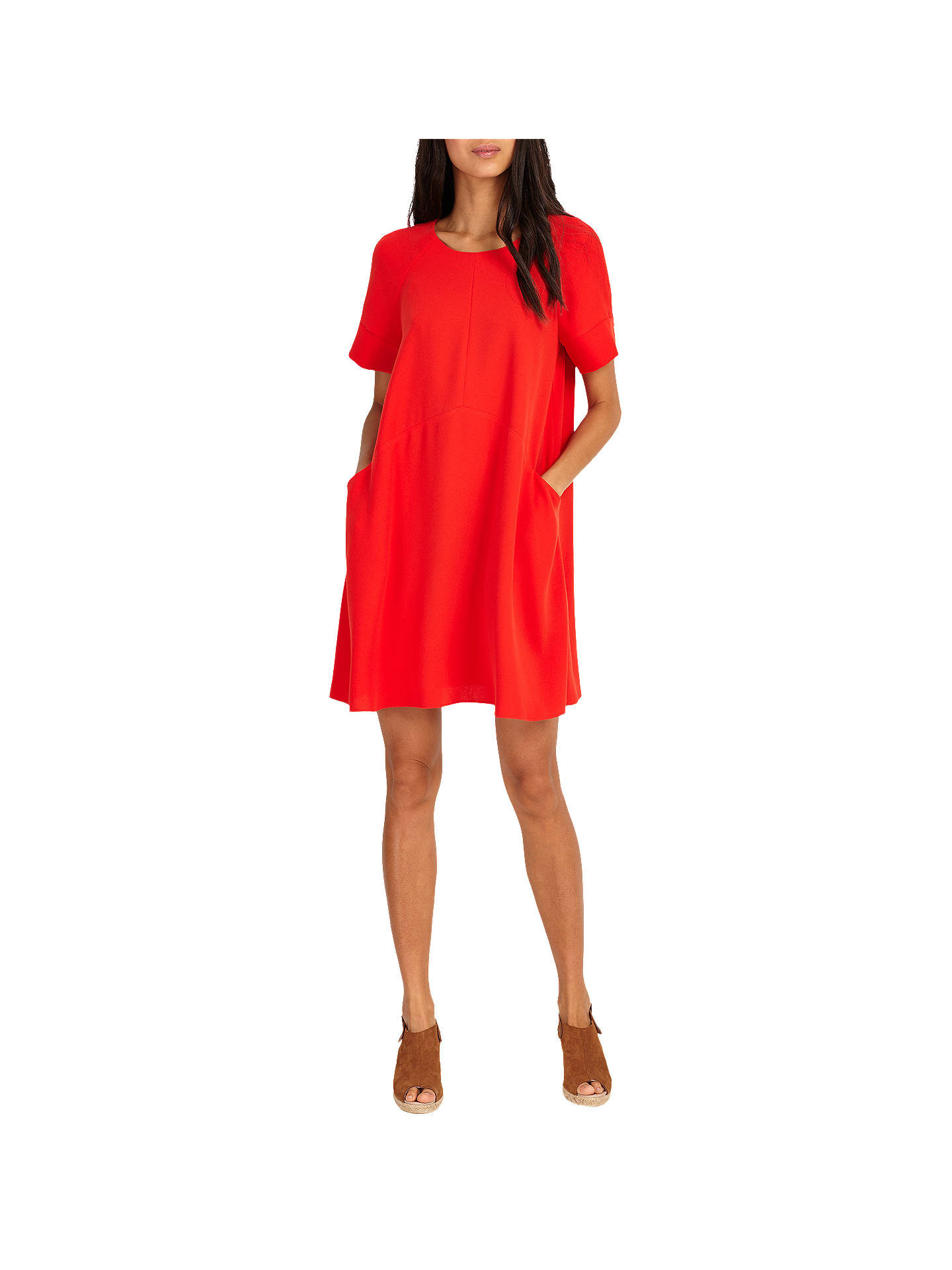 3dd3e35a7c67 Buy Phase Eight Zoe Swing Dress, Red, 6 Online at johnlewis.com ...