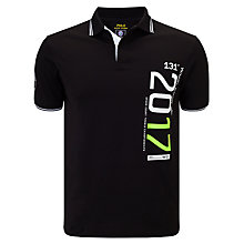 Buy Polo Ralph Lauren Wimbledon Custom Fit Polo Shirt, Black Online at johnlewis.com