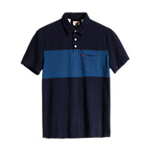 Buy Levi's Sunset Stripe Pocket Polo Shirt, Dark Indigo/Light Indigo Online at johnlewis.com