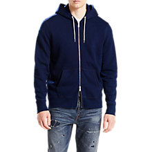 Buy Levi's Original Zip Up Hoodie, Dark Indigo Online at johnlewis.com